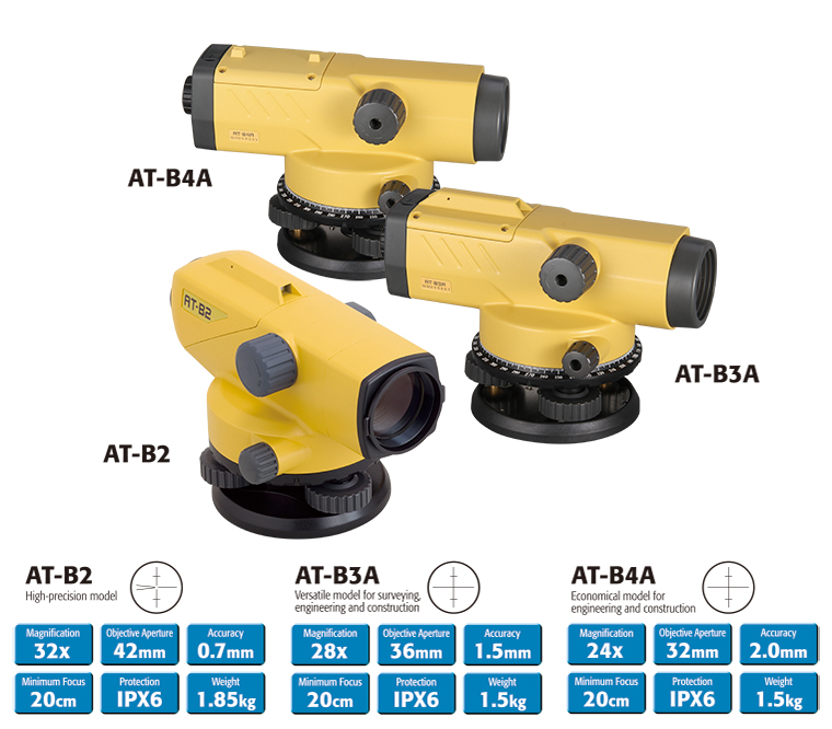 auto levels at b series positioning topcon